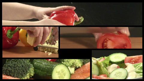 Vegetable Montage Animation