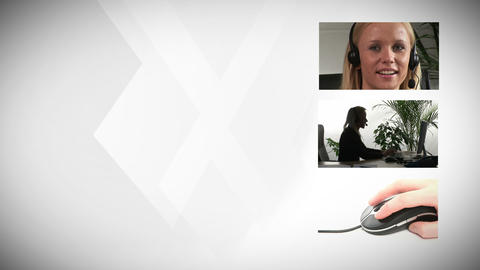 Businesswoman Working Indoors stock footage