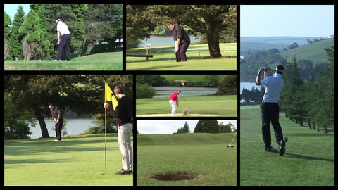Golf Footage Stock Video Footage