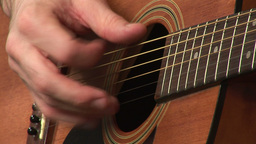 Playing Accoustic Guitar Footage