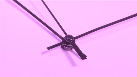 Pink Clock Stock Video Footage
