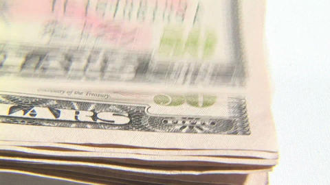 Dollar Notes Stock Video Footage