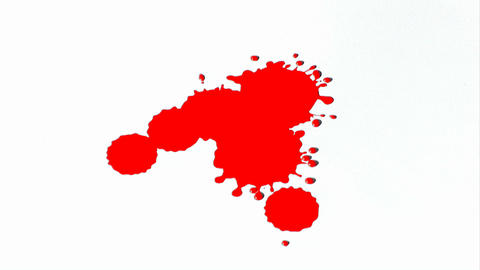 Red Ink Splatter Stock Video Footage