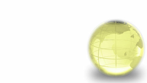 Glass Spinning Globe Seamless Animation