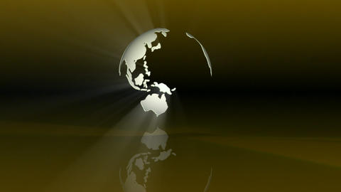 Globe with Reflection Stock Video Footage