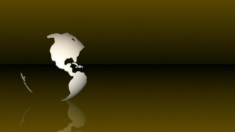 Globe with reflection Animation