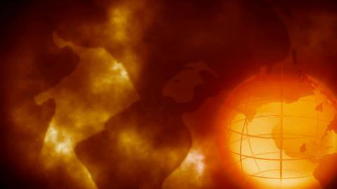 Grunge Style Globe Animation