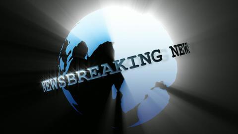 News Broadcast Globe Seamless Animation