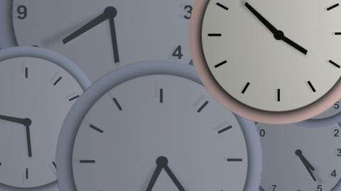 Multiple Clocks Footage