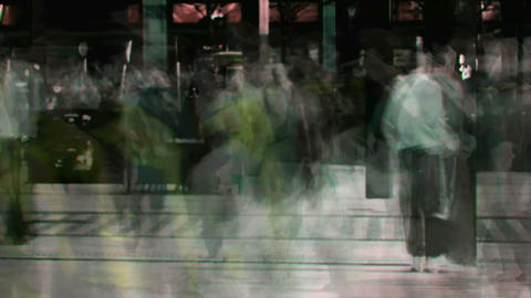 Abstract crowd walking 3 Footage