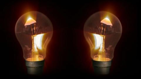 Lightbulbs Glowing Stock Video Footage