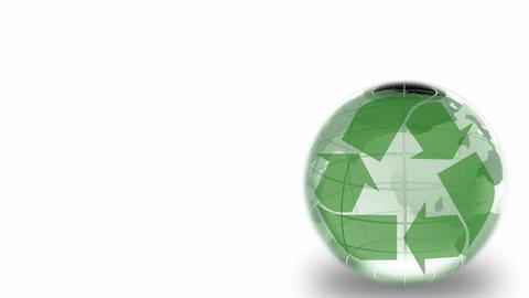 Rotating Environmental Globe Animation