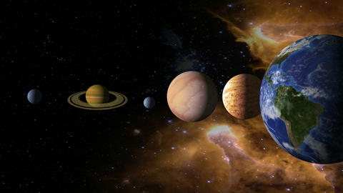 Solar System 2 stock footage
