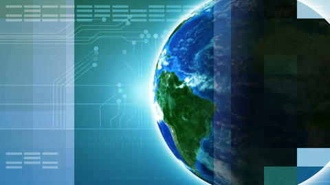 Global Technology stock footage