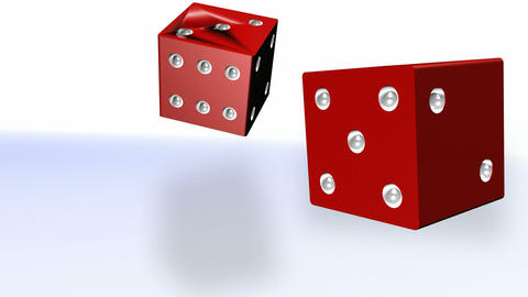 Stock Video Animation of Moving Dice Stock Video Footage