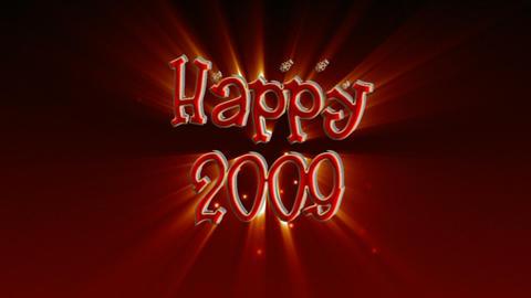 Happy 2009 stock footage