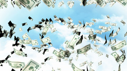 Falling Dollars from the sky Animation