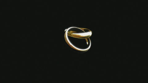 3D Animation of a Wedding Ring Stock Video Footage