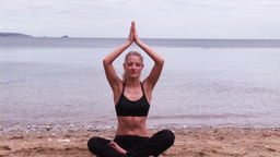 Woman Practicing Yoga Footage