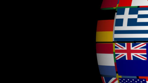 Globe made from Flags Stock Video Footage