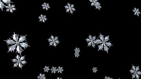 Floating Snowflake seamless Stock Video Footage