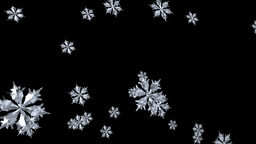Floating Snowflake seamless Animation