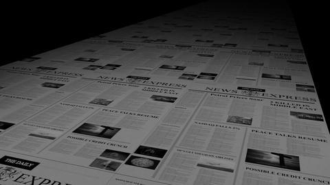 NEWSPAPER PRINTING PRESS stock footage