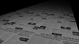 NEWSPAPER PRINTING PRESS Stock Video Footage