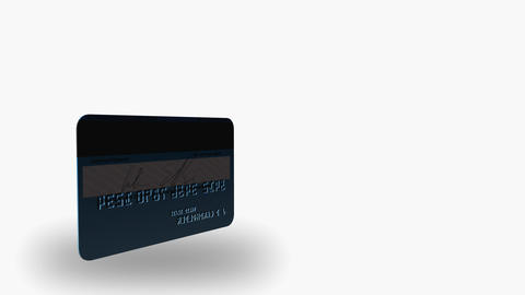 3D ROTATING CREDIT CARD Stock Video Footage
