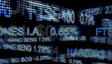 Stock Market ticker Animation