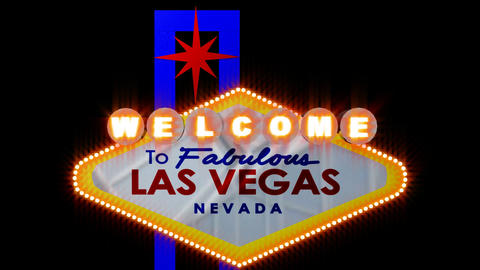 LAS VEGAS SIGN 3 Footage
