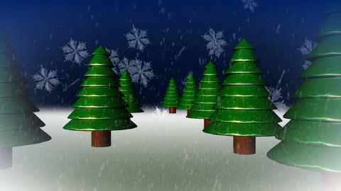 WINTER WONDERLAND SCENE SEAMLESS Stock Video Footage