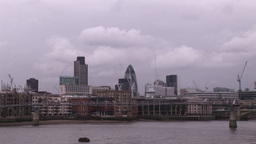 Dull overcast Day in London Stock Video Footage