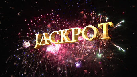 Jackpot Sign Footage