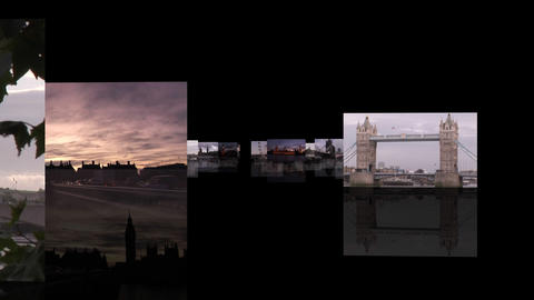 London Footage Montage Stock Video Footage