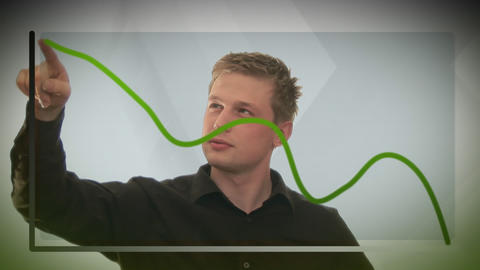 Man Drawing Graph Stock Video Footage