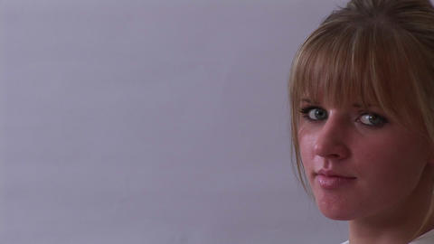Young adult Woman Face Stock Video Footage