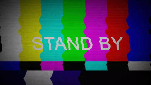 TV COLOR BARS Stock Video Footage