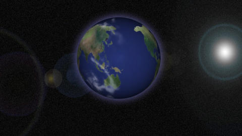 Stock Animation View of Earth from Space Stock Video Footage
