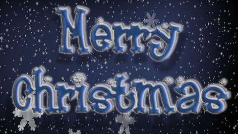 Snowflakes Merry Xmas Stock Video Footage