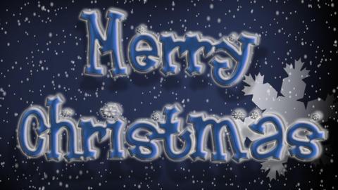 Snowflakes Merry Xmas Footage