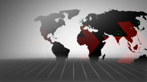 Business Map stock footage
