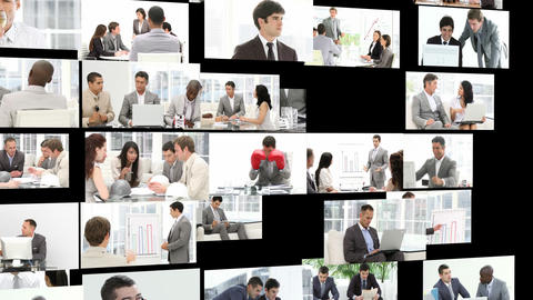 Business men working hard Animation