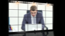 Working in a company Stock Video Footage