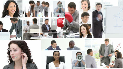 Montage of Business people at work Stock Video Footage