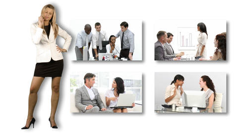 Business people at work Footage