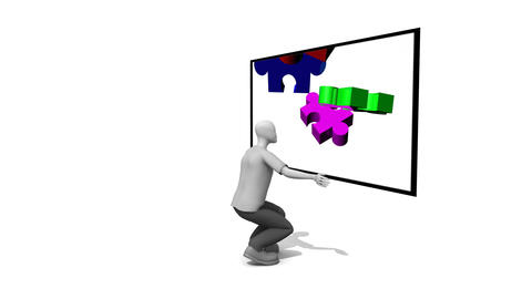Showing a 3d Puzzle Animation