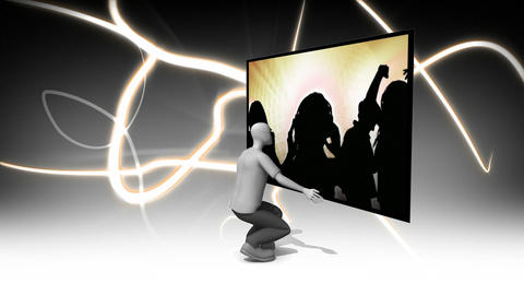 3D Animated Dancing Footage