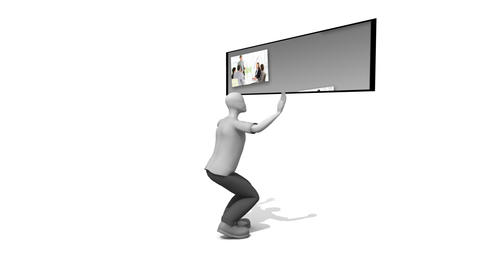 3d Business man Presenting people Stock Video Footage