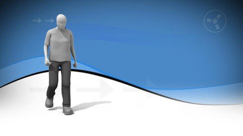 3d dancing animation Stock Video Footage